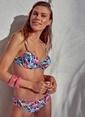 Morhipo Beach Filamingo Desenli Bikini Renkli
